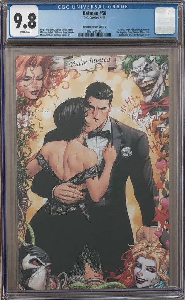 Batman #50 Tyler Kirkham Virgin Variant Cover C CGC 9.8