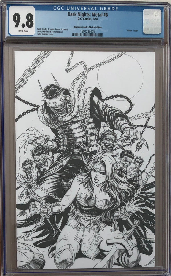 Dark Nights: Metal #6 CGC 9.8 Tyler Kirkham Sketch Exclusive