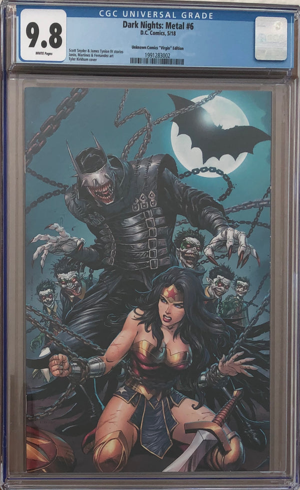 Dark Nights: Metal #6 CGC 9.8 Tyler Kirkham Virgin Exclusive