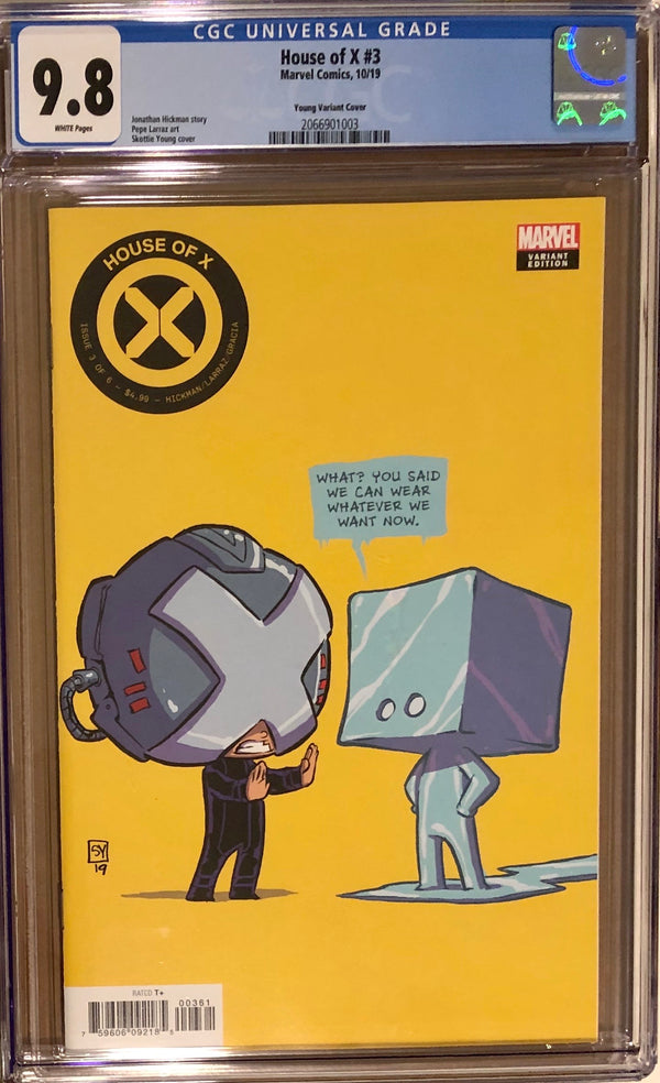 House of X #3 Skottie Young Variant CGC 9.8