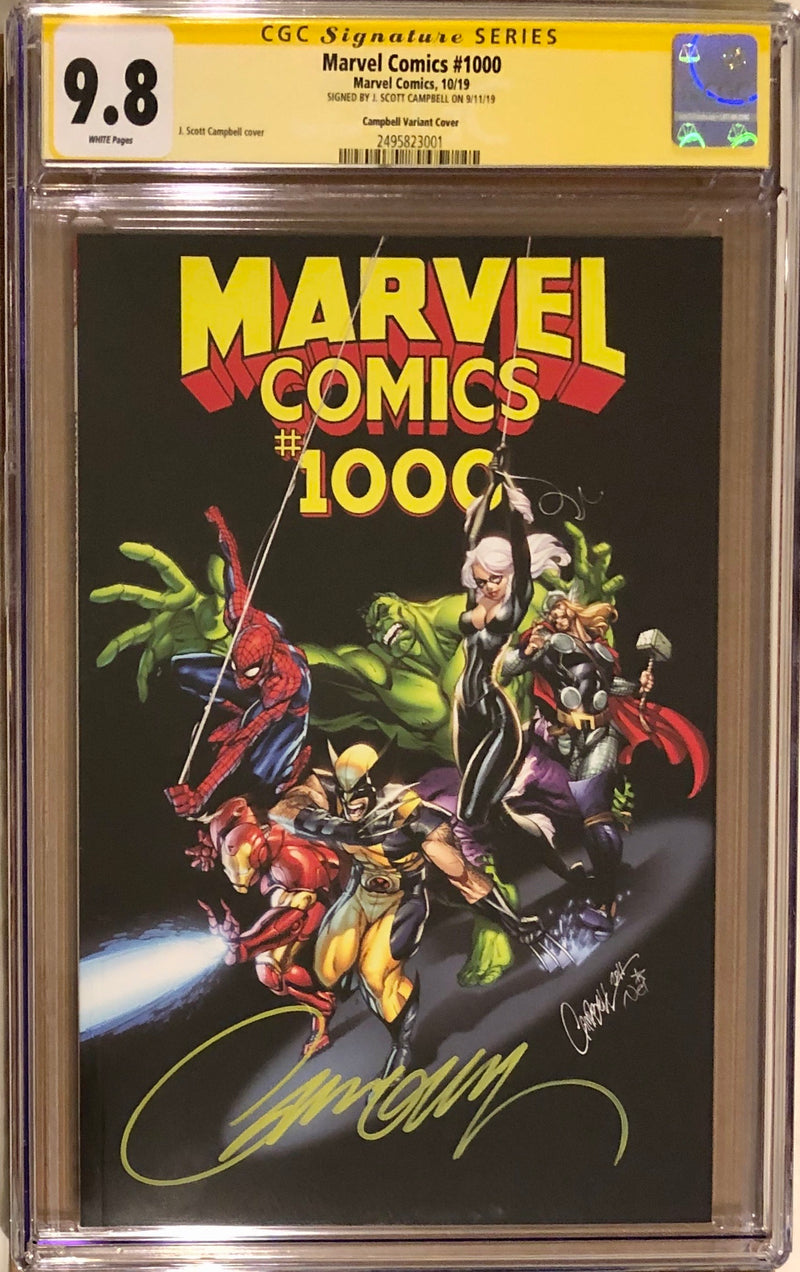 Marvel Comics #1000 J. Scott Campbell Variant CGC 9.8 SS