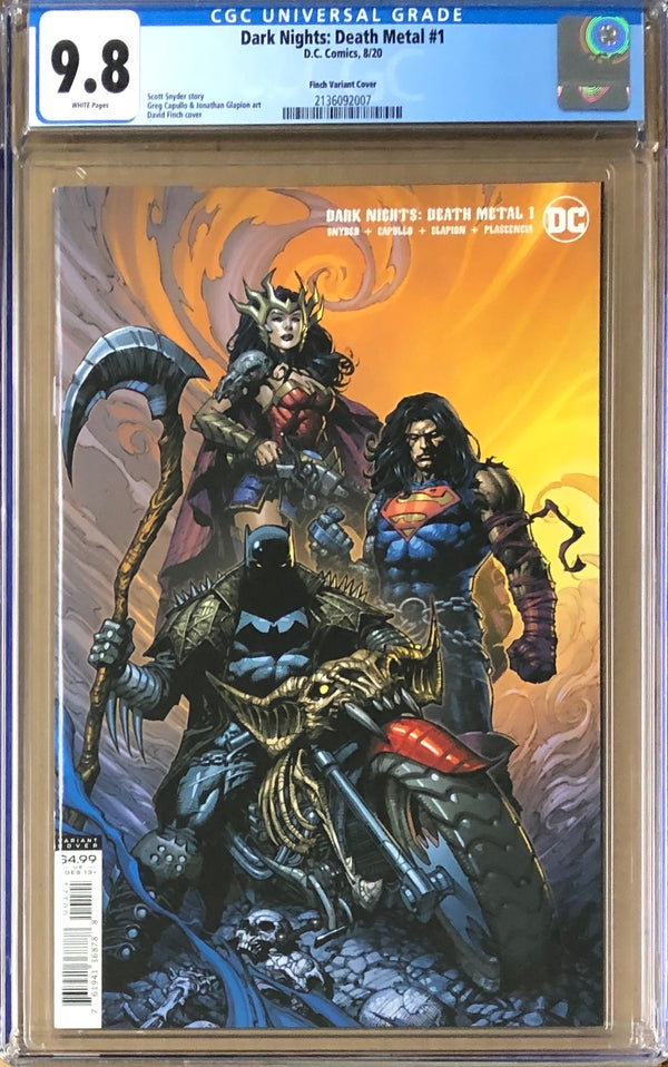 Dark Nights Death Metal #1 Finch Variant CGC 9.8