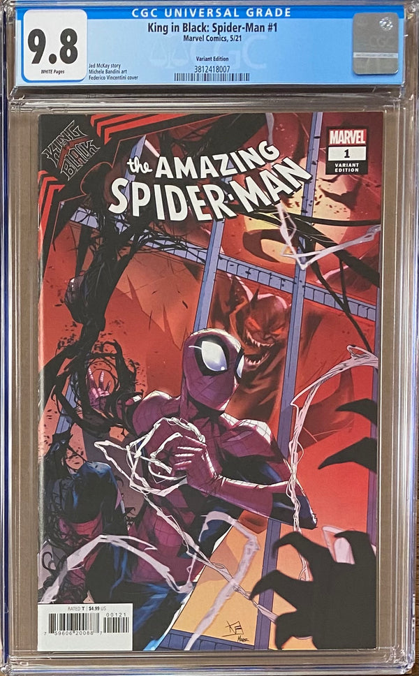 King in Black: Spider-Man #1 Variant CGC 9.8
