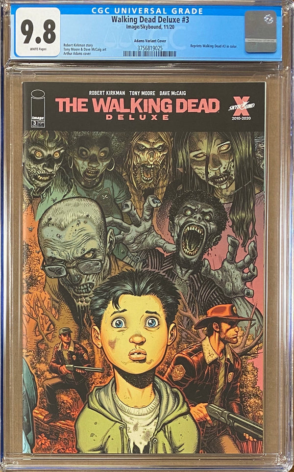 Walking Dead Deluxe #3 Adams Variant CGC 9.8