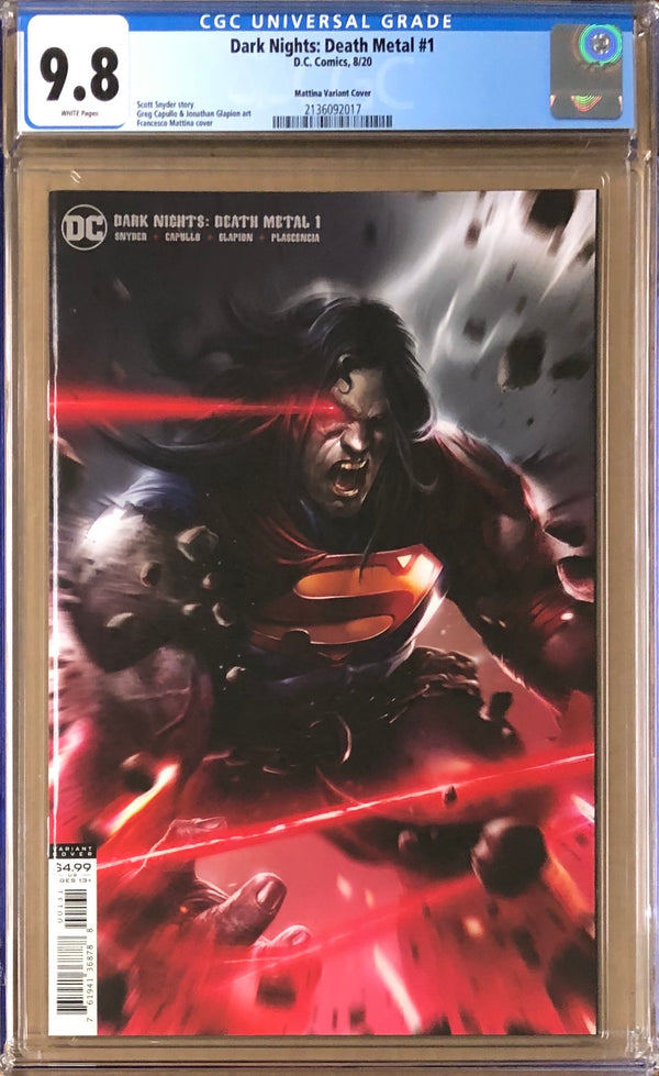 Dark Nights Death Metal #1 Mattina Variant CGC 9.8