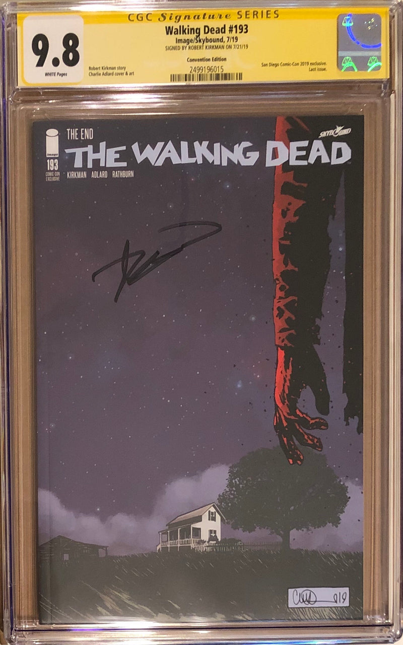 The Walking Dead #193 SDCC Variant CGC 9.8 SS - Final Issue!
