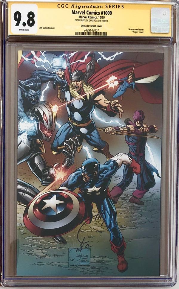 Marvel Comics #1000 Quesada Wraparound Variant CGC 9.8 SS