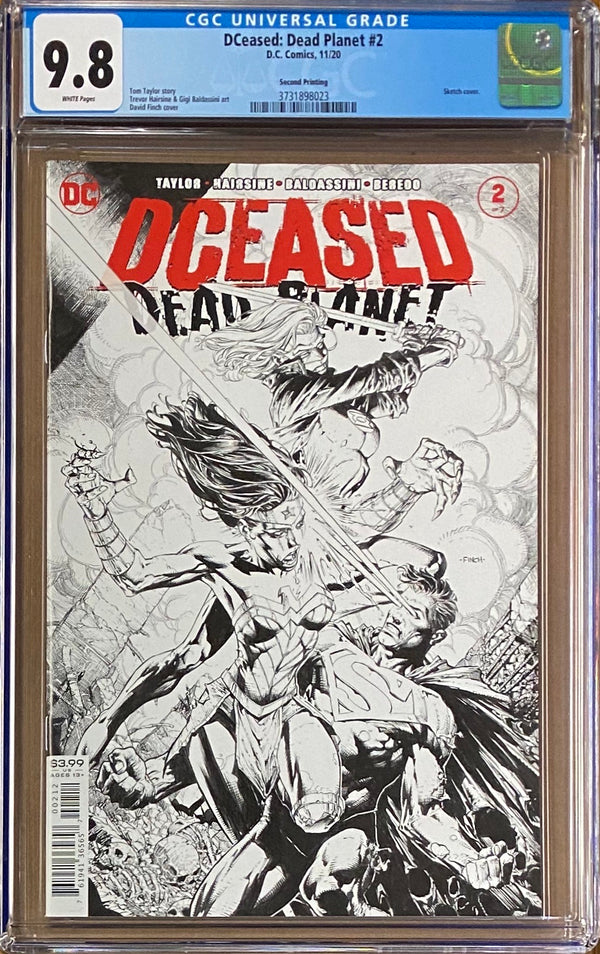 DCeased: Dead Planet #2 Second Printing CGC 9.8