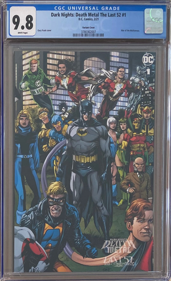 Dark Nights Death Metal: The Last 52 - War of the Multiverses #1 Retailer Incentive Variant CGC 9.8