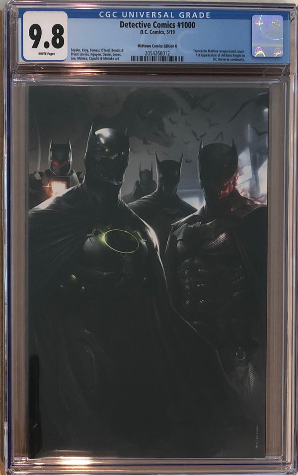 Detective Comics #1000 Franchesco Mattina Virgin Wraparound Exclusive CGC 9.8