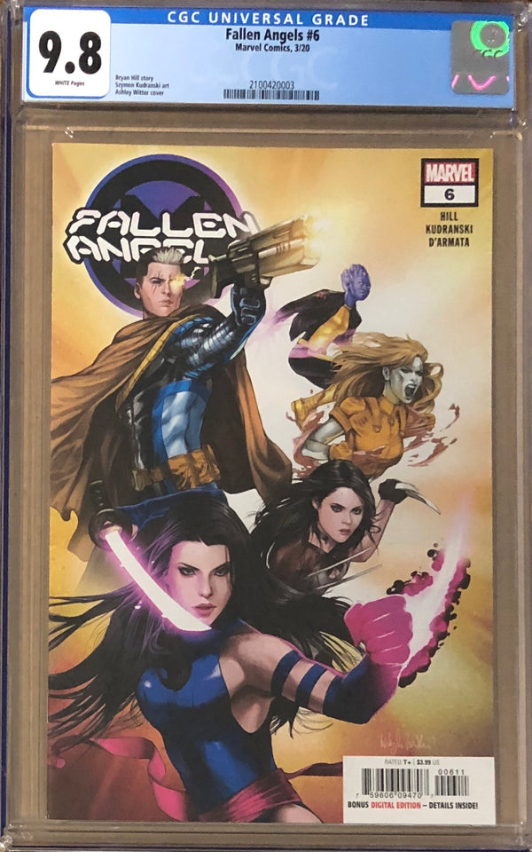 Fallen Angels #6 CGC 9.8 - Dawn of X!