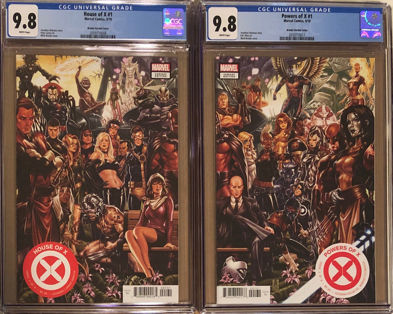 House of X #1 & Powers of X #1 Brooks Connecting Variant Set CGC 9.8