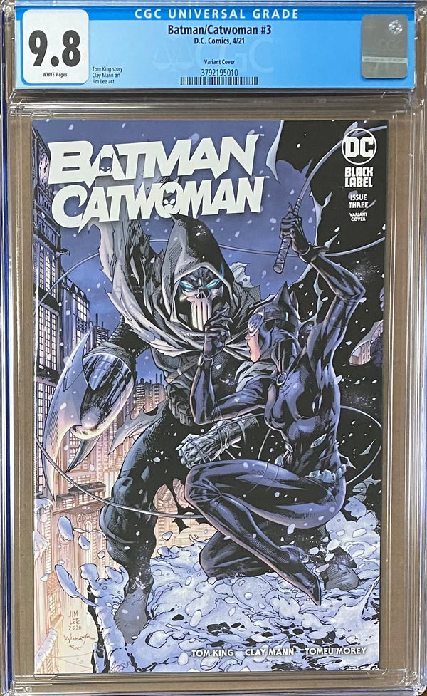Batman Catwoman #3 Jim Lee Variant DC Black Label CGC 9.8