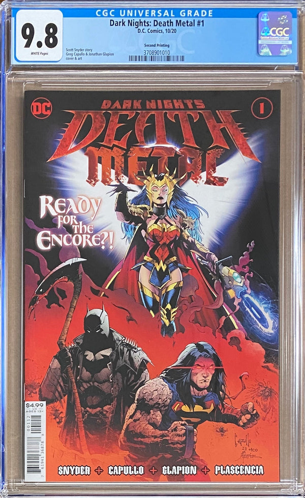 Dark Nights Death Metal #1 Second Printing CGC 9.8