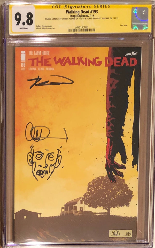 The Walking Dead #193 CGC 9.8 SS Rare Double Signed and Sketched! - Final Issue! - 006