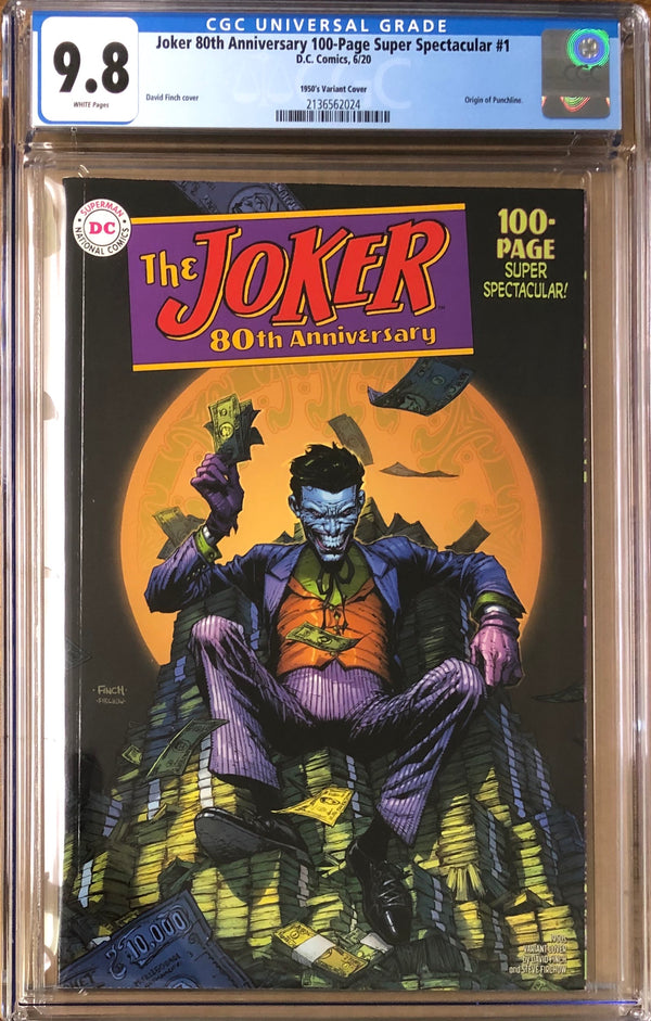 Joker 80th Anniversary 100 Page Super Spectacular #1 Finch 1950s Variant CGC 9.8