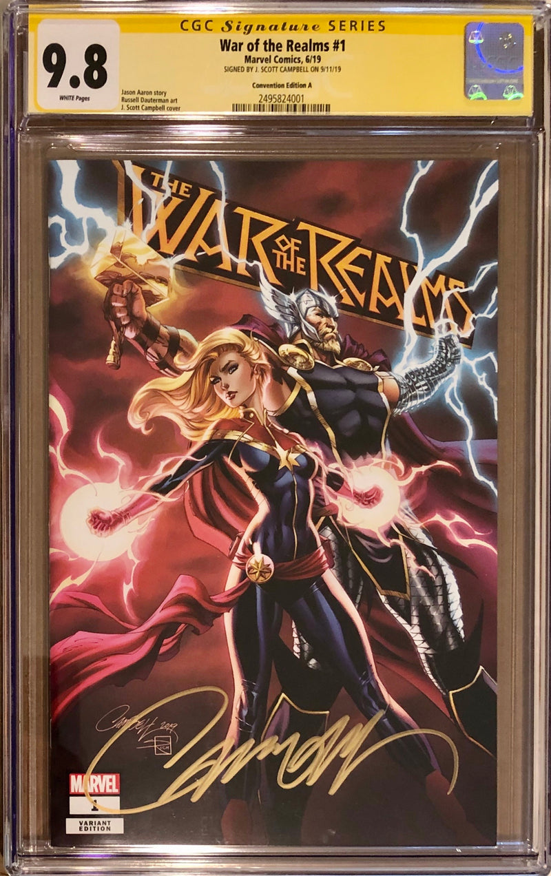 War of the Realms #1 Premium Package J. Scott Campbell Exclusive A CGC 9.8 SS