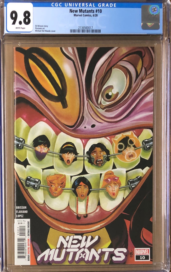 New Mutants #10 CGC 9.8 - Dawn of X!