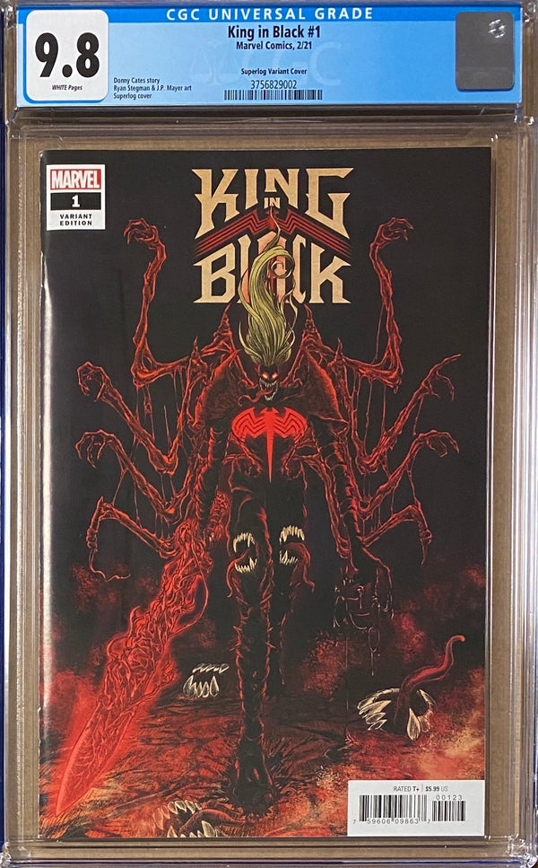 King in Black #1 Superlog 1:25 Retailer Incentive Variant CGC 9.8