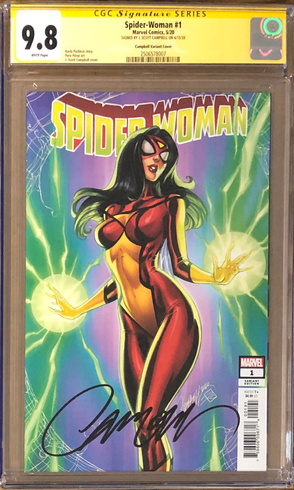 Spider-Woman #1 J. Scott Campbell Variant CGC 9.8 SS