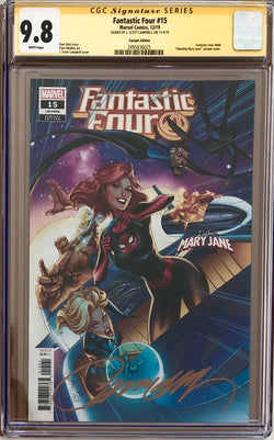 "Fantastic Four #15 Campbell ""Mary Jane"" Variant CGC 9.8 SS"