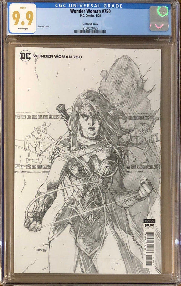 Wonder Woman #750 Jim Lee 1:100 Retailer Incentive Variant CGC 9.9