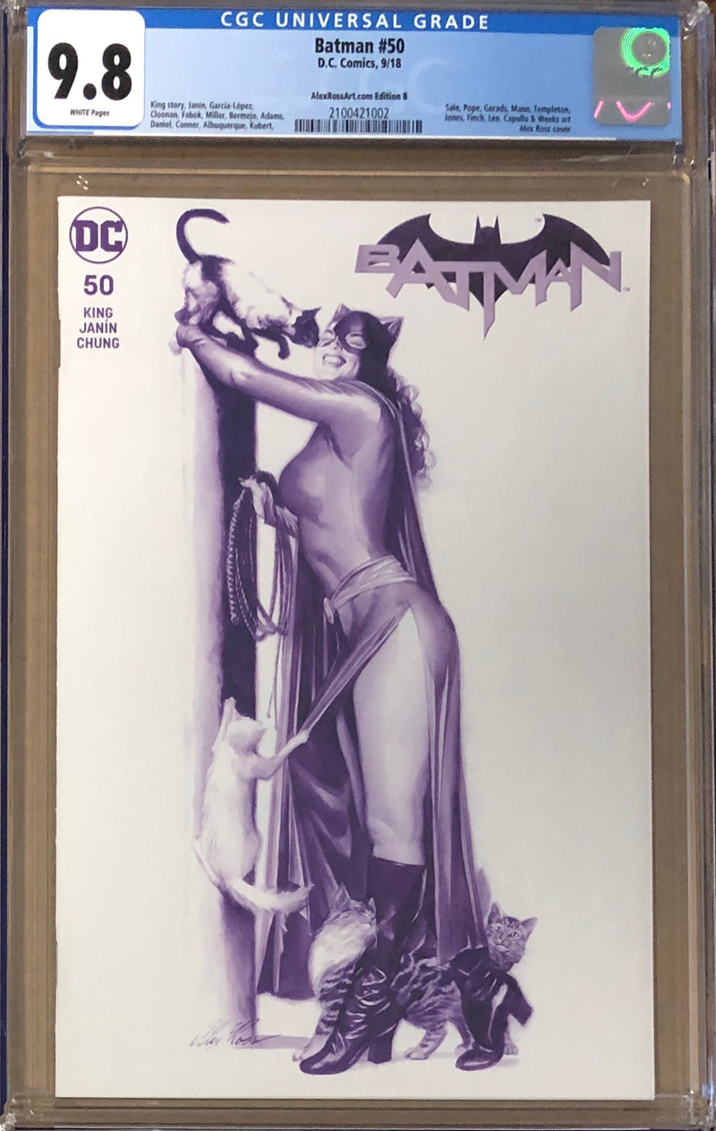 Batman #50 Alex Ross Variant B CGC 9.8