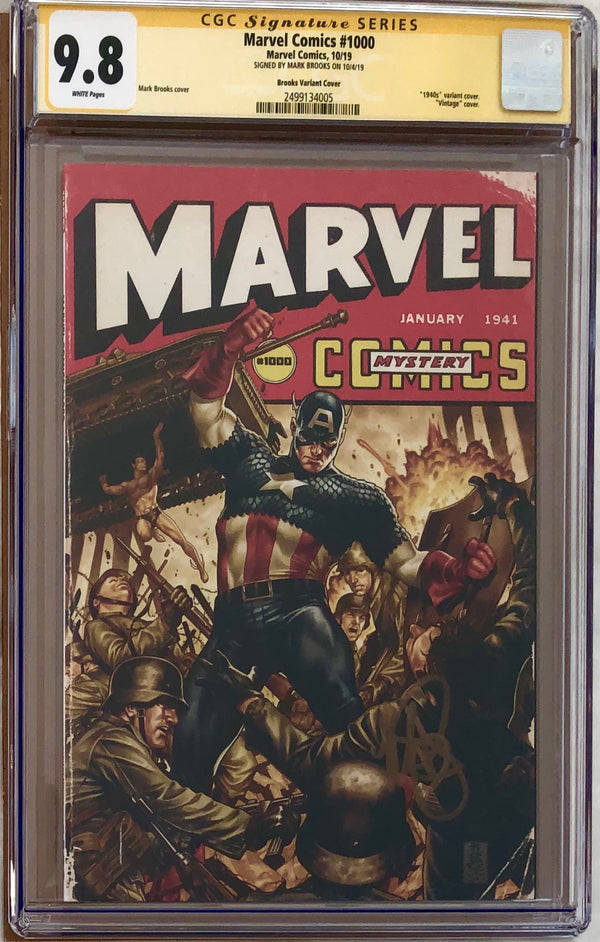 Marvel Comics #1000 Brooks 40s Variant CGC 9.8 SS