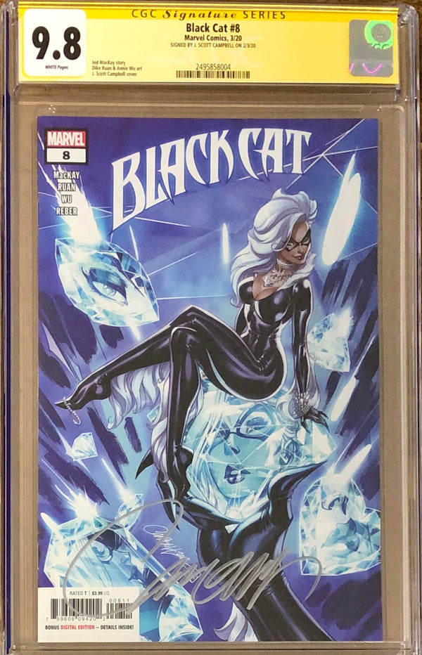 Black Cat #8 J. Scott Campbell CGC 9.8 SS