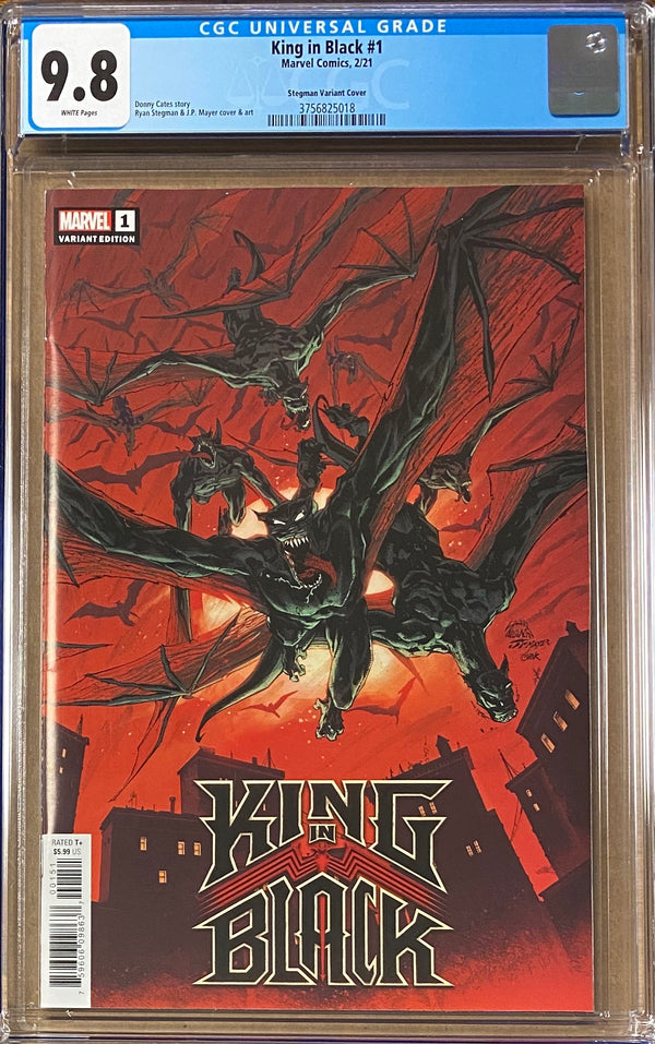 "King in Black #1 Stegman ""Darkness Reigns"" Variant CGC 9.8"