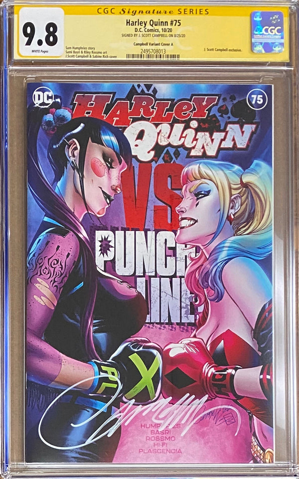 "Harley Quinn #75 J. Scott Campbell Exclusive A - ""Boxing"" CGC 9.8 SS"