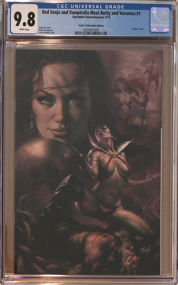 Red Sonja And Vampirella Meet Betty And Veronica #1 Parrillo Convention Exclusive CGC 9.8
