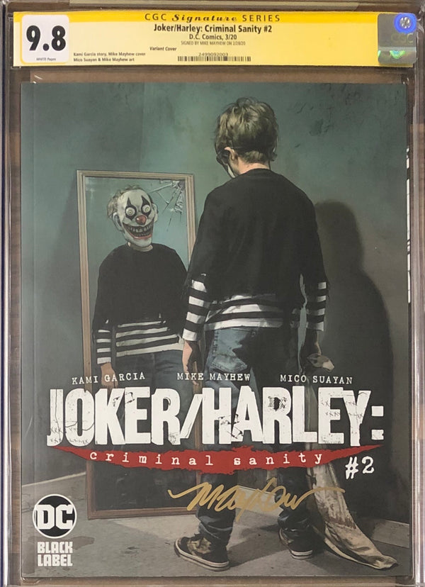 Joker/Harley: Criminal Sanity #2 Mayhew Variant Cover DC Black Label CGC 9.8 SS