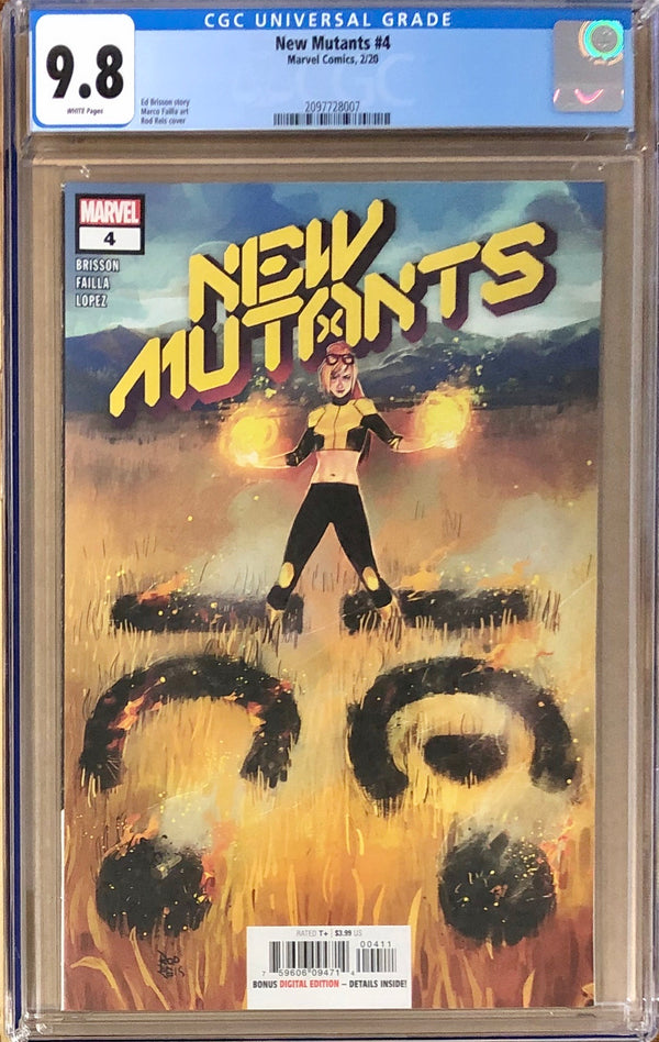 New Mutants #4 CGC 9.8 - Dawn of X!