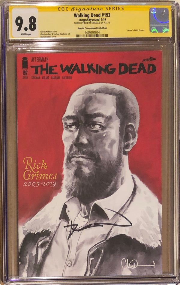 The Walking Dead #192 Commemorative Edition CGC 9.8 SS - Death of Rick Grimes
