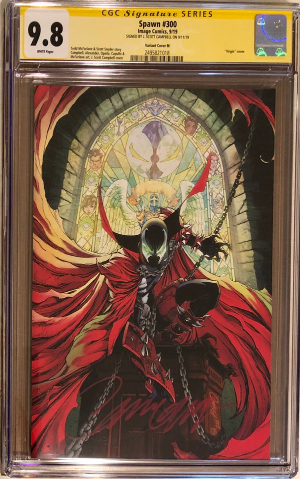 Spawn #300 J. Scott Campbell Virgin Variant M CGC 9.8 SS