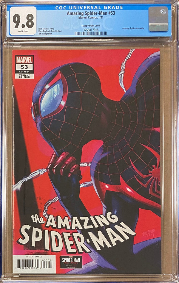 Amazing Spider-Man #53 Tsang Retailer Incentive Variant CGC 9.8
