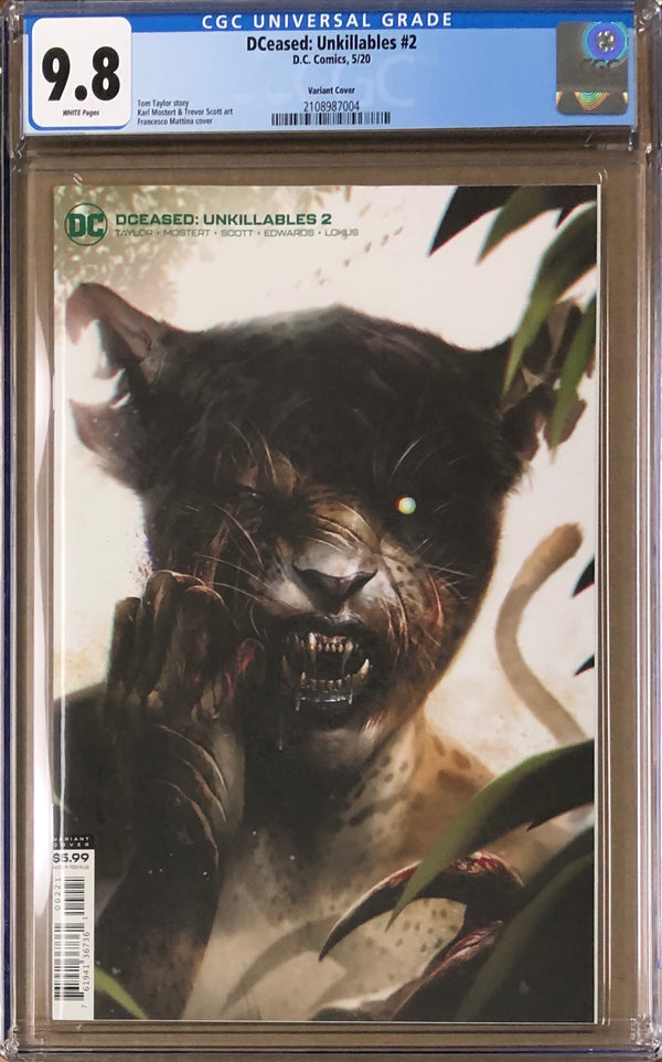 DCeased: Unkillables #2 Mattina Variant CGC 9.8