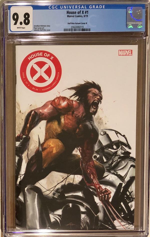 House of X #1 Fan Expo Boston Dell'Otto Premium Con Exclusive B CGC 9.8