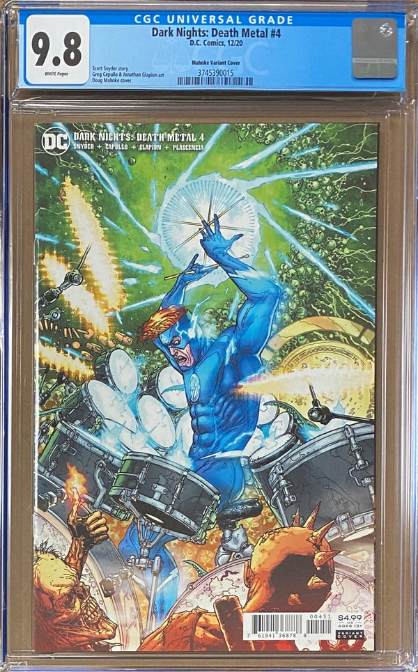 Dark Nights Death Metal #4 Mahnke 1:25 Retailer Incentive Variant CGC 9.8