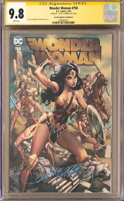 "Wonder Woman #750 J. Scott Campbell Exclusive A - ""Amazons"" CGC 9.8 SS"