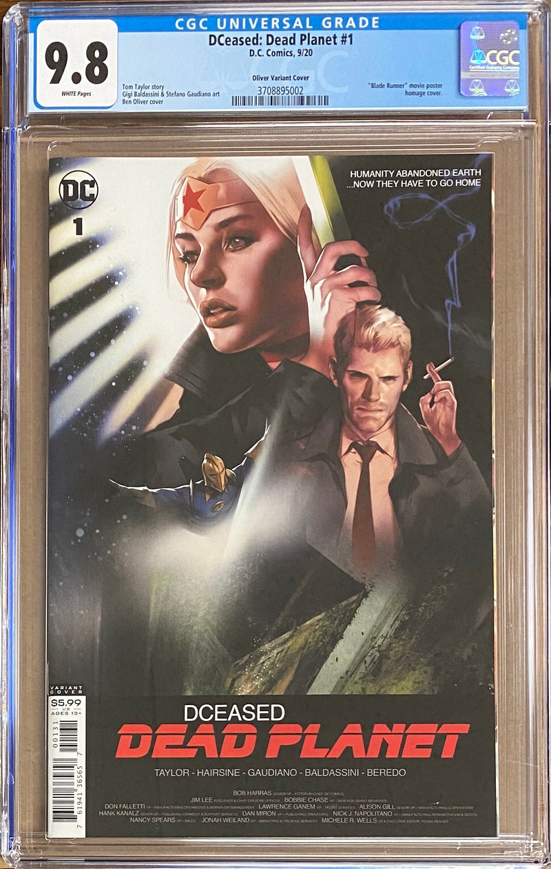 DCeased: Dead Planet #1 Oliver Movie Poster Variant CGC 9.8