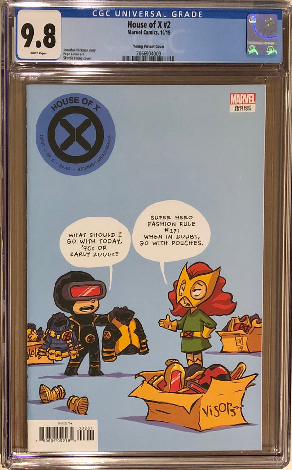 House of X #2 Skottie Young Variant CGC 9.8