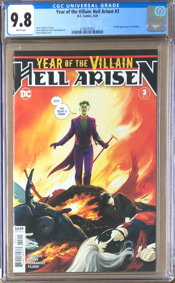 Year of the Villain: Hell Arisen #3 CGC 9.8 - 1st Full Appearance of Punchline