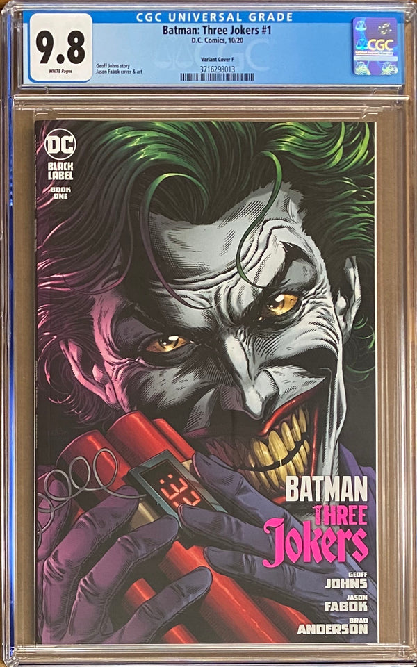 "Batman: Three Jokers #1 ""Joker Bomb"" Premium Variant DC Black Label CGC 9.8"