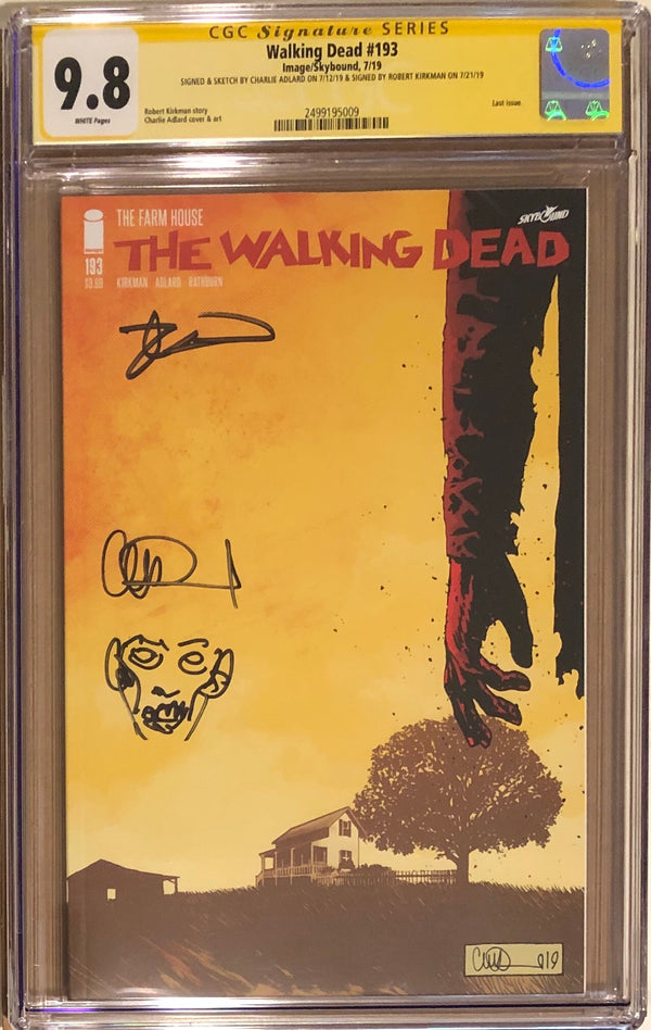 The Walking Dead #193 CGC 9.8 SS Rare Double Signed and Sketched! - Final Issue! - 009