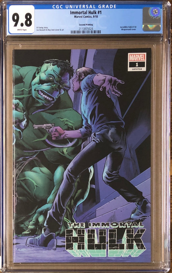 Immortal Hulk #1 Second Printing CGC 9.8