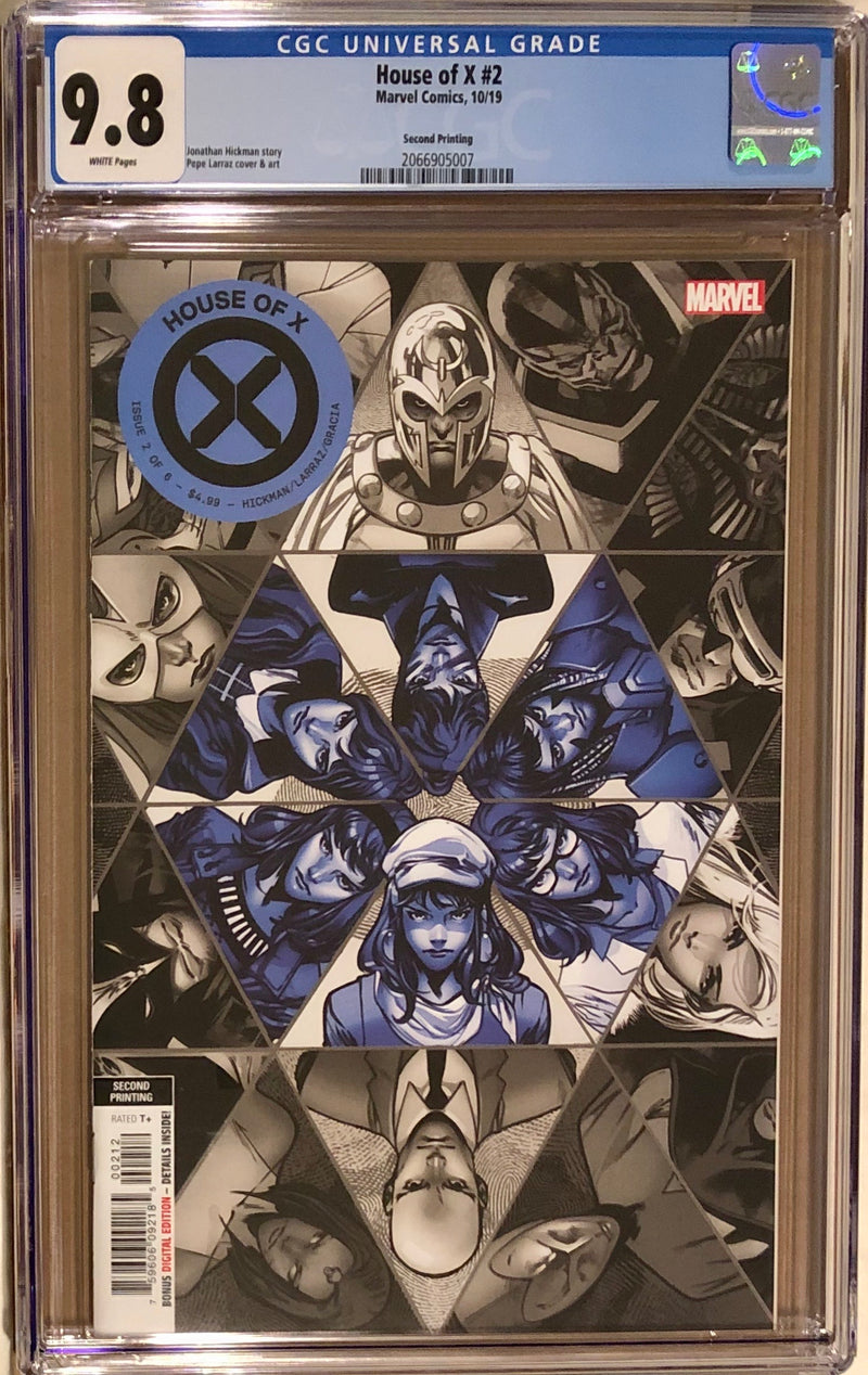 House of X #2 Second Printing CGC 9.8