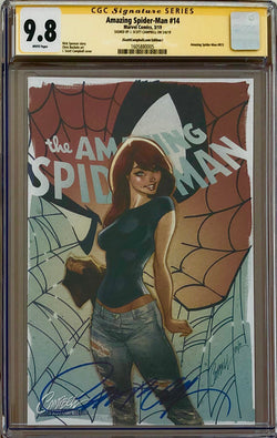 "Amazing Spider-Man #14 J. Scott Campbell Edition I ""Face it Tiger"" MJ SDCC Exclusive CGC 9.8 SS"
