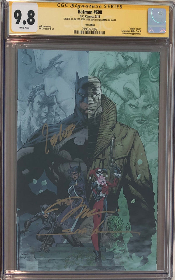 Batman #608 Jim Lee RRP Black Foil Exclusive CGC 9.8 SS - Lee, Loeb, Williams